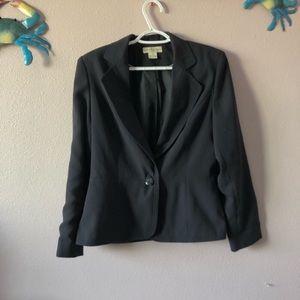 Worthington Black Long Sleeve Button Blazer